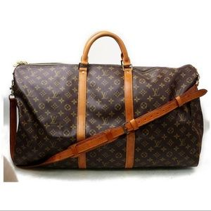 Louis Vuitton bandouliere 60 keepall with strap